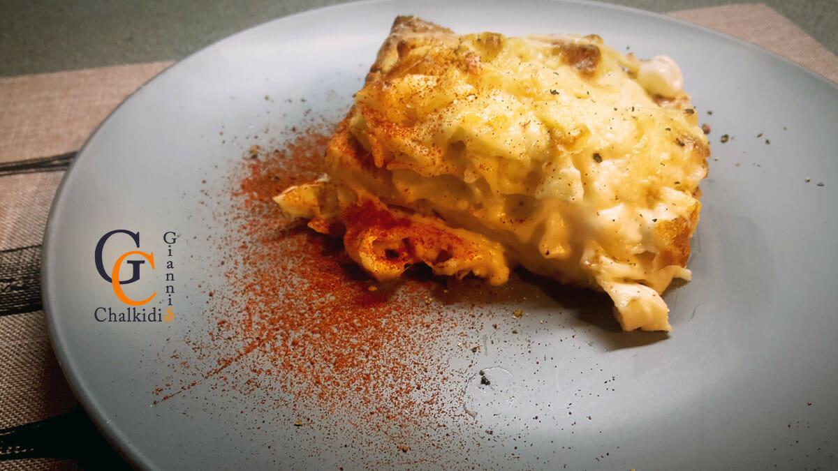 Croque monsieur με mac n cheese